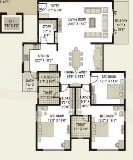 Photo 4BHK+3T (3,290 sq ft) Apartment in Vesu, Surat