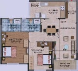 Photo 2BHK+2T (1,202 sq ft) Apartment in Begur,...