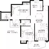 Photo 2BHK+2T (1,273 sq ft) Apartment in Sector 88,...