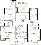 Photo 3BHK+3T (1,661 sq ft) Apartment in Sector 88,...