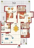 Photo 2BHK+2T (1,231 sq ft) Study Room Apartment in...