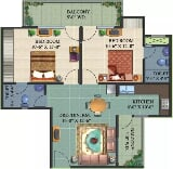 Photo 2BHK+2T (1,039 sq ft) Apartment in Raj Nagar...