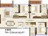 Photo 4BHK+5T (2,780 sq ft) + Servant Room Apartment...